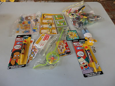 Fantastic assortment of Simpsons toys, cards,etc. Maybe mcDonalds