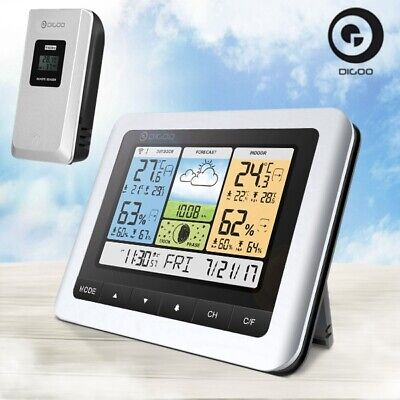 Digoo Wireless COLOR LCD Weather Station Temperature Humidity Barometer & Sensor