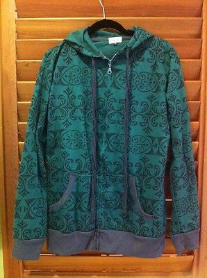 Skumi Designer Hooded Zipper Green Tribal Surf Jacket - Size XL NEW  - Unisex