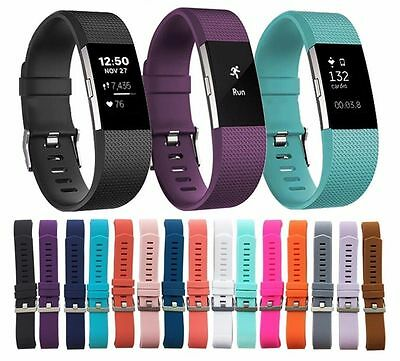 2017 Replacement Rubber Band Strap Wristband Bracelet For Fitbit Charge2