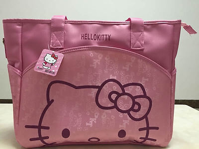 Hello Kitty Big Head Out Side Casual Carry Bag Kids Girls Shoulder Bag Pink