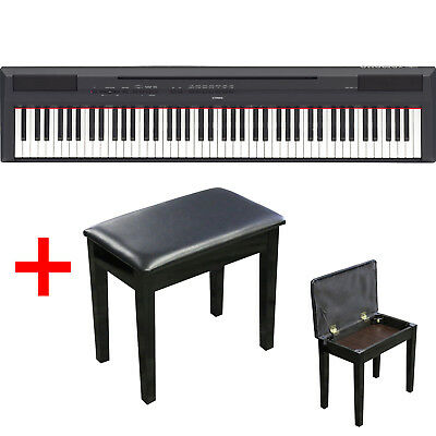Yamaha P-115 88-key Digital Piano. Graded Hammer Action. With Bonus Piano Bench