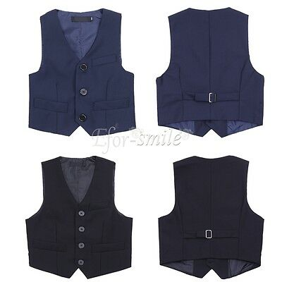 Formal Vest Set Boys Baby Toddler Formal Party Wedding Suit Blouse Waistcoat