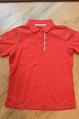 Musto Childs Super Quality Red Polo Shirt Age 10 - Brand New Bargain!