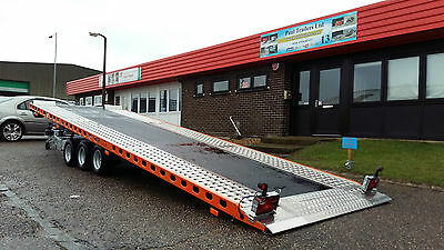 New  Flat Bed  Car Transporter Tipping Trailer