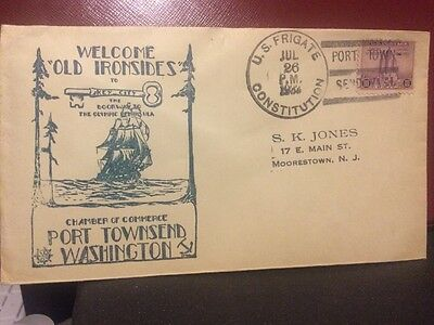 USS Frigate Constitution Visits Port Townsend, Washington(Navy & Postal History)