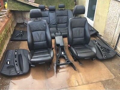 Bmw E90 Saloon Full Black M Sport Leather Interior Seats Door Cards
