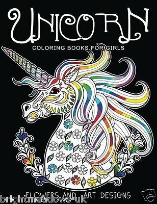 Unicorn For Girls Adult Colouring Book Magical Creatures Cute Fantasy Animals