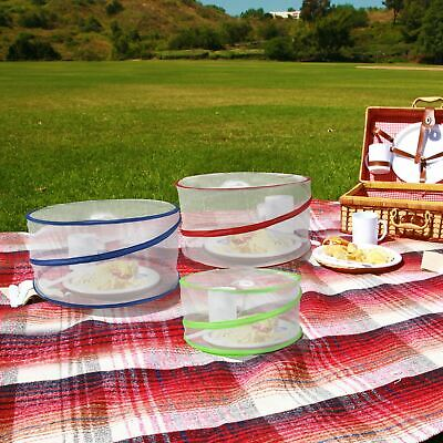 3x Collapsible Pop Up Food Covers Outdoor Kitchen Insect Net Picnic Protectors