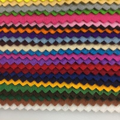 Felt Craft Squares, Serrated Edges, 25 X  Mixed Colours 15 Cm X 15 Cm, Free Post