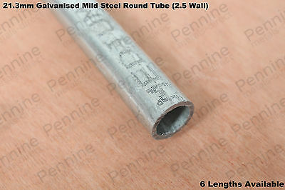 GALVANISED Steel ROUND TUBE  21.3mm Diameter (2.5mm Wall) - 6 Lengths Available