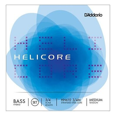 D'Addario Helicore Double Bass Strings Medium Hybrid 3/4 (full set)