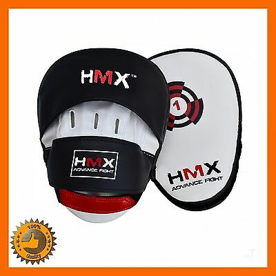 Focus Pads Mitts Pad Curved Gloves Trainer Tractise Boxing Kickboxing Mma Punch