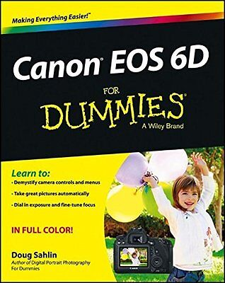 Canon EOS 6D For Dummies Digital Camera Field Guide Book Manual  - NEW