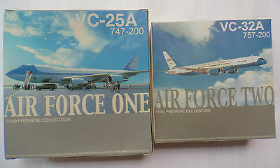 Air Force One and Two set VC-25A VC-32A 747 757 Dragon Wings  1/400 55544 55467