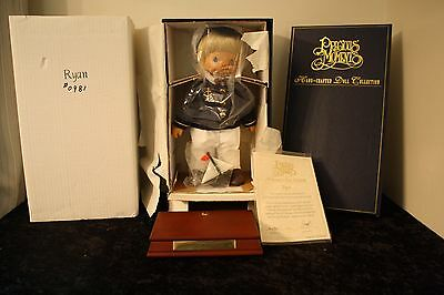 "1998 Precious Moments Wood Hand Carved Doll ""RYAN"" #981/1000 RARE Musical"