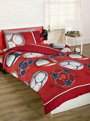 Football Single Duvet Cover Bedding Set Boys Children'S Sports Red