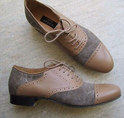 Mens Size 7 Nueva Epoca Ballroom Shoes in Brown *NEW*