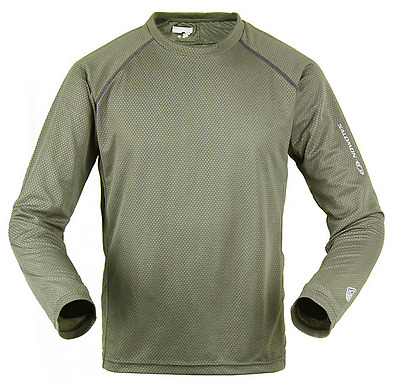 SALOMON L Size Long Sleeve Hiking Quick Dry T Shirt Men ultraviolet protection