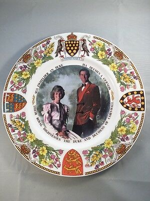 Panorama Studios 27cm China Plate 1987 The Duchy Of Cornwall Ltd Edition of 500