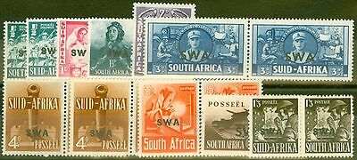 S.W.A 1941-43 War Effort Extended set of 11 SG114-122 Both Shades of 1/2d & 4d