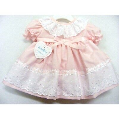 Stunning Romany Spanish Style Baby Girls Dress Broderie Anglaise Trim by Kinder