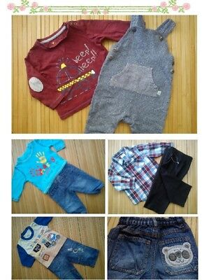 72x NEW USED WINTER AUTUMN BUNDLE OUTFITS BOY 3/6 MTHS 6/9 PHOTOS IN DESRIPTION