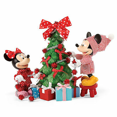 Disney Department 56 Mickey & Minnie Christmas Tree Hung with Care New with Box