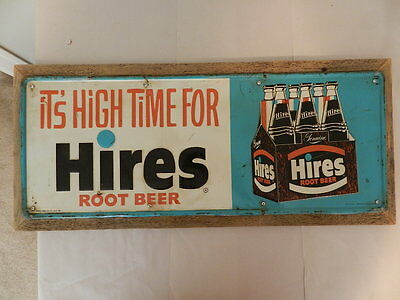 Vintage Advertising Sign- Vintage Hires Root Beer Sign- Vintage Drive-In- Carhop