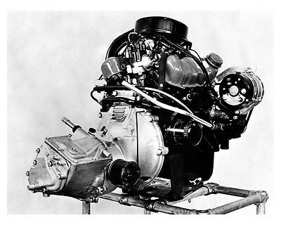 1967 Saab V4 Engine Factory Photo ub1801