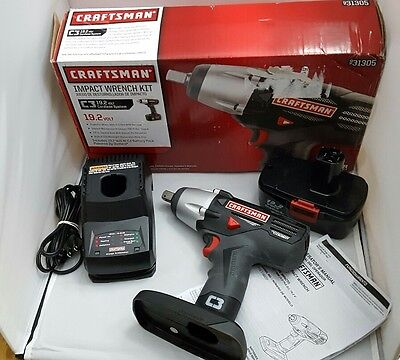 "Craftman C3 1/2"" Impact Wrench Kit with Box 19.2 Volt Model No 315.116020"
