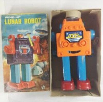 YONEZAWA Luna robot LUNAR ROBOT with box spring fly retro vintage from JAPAN