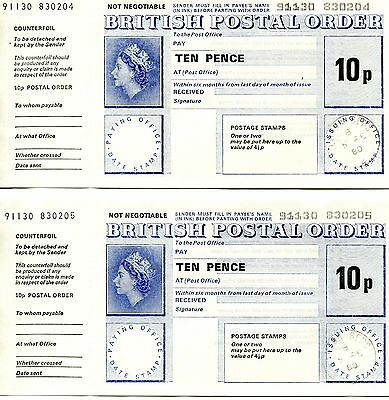 BRITISH POSTAL ORDERS UNCIRCULATED COMPLETE IN PRISTINE CONDITION 1980 10p