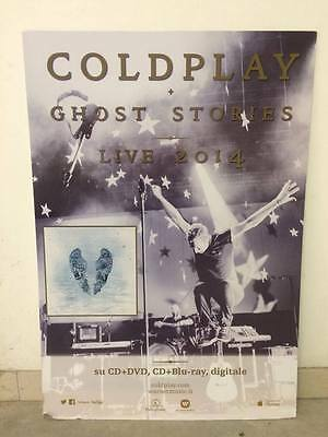 COLDPLAY GHOST STORIES CARTONATO PUBBLICITA PROMO ONLY DISPLAY STAND 70 x 100 cm
