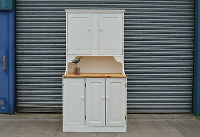 Solid Pine Kitchen Larder Dresser Cupboard Painted Shabby Chic .