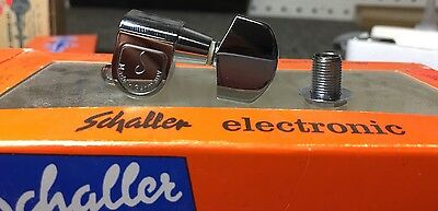Vintage 70s / 80s Schaller Tuner - Chrome - Bass Side W/ Hardware