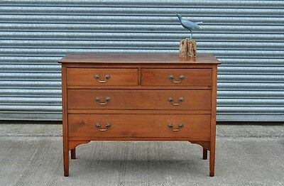 Edwardian Antique Mahogany Chest Of Drawers.