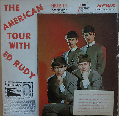 The Beatles The American Tour with Ed Rudy 1964 vinyl LP with Teen Talk magazine