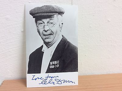 "CLIVE DUNN HAND SIGNED BLACK & WHITE  AUTOGRAPH 5.5"" x 3.3"" PHOTO"