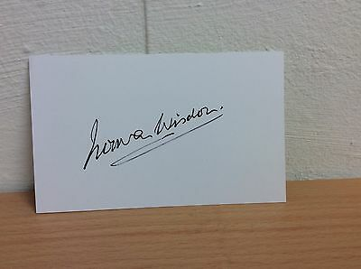 "Norman Wisdom Hand Signed Autograph On A White 5"" X 3"" Card"