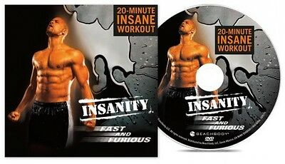 Insanity Fast and Furious 20 Minute Insane Workout Beachbody Effective DVD NEW