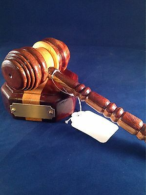 Judges gavel and base, perfect gift for a law graduate.