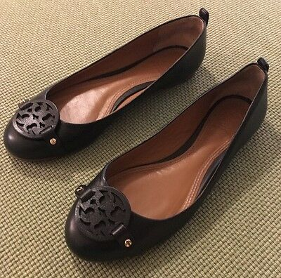 e3c544dc867 TORY BURCH BLACK Mini Miller Flats Sz 6.5 Retail  265 SOLD OUT ...