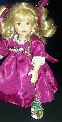 "Marie Osmond Doll ""Quite a Pair"" Helena 9"" & christmas tree ornament tiny tot"