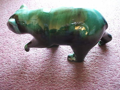 "Very Rare Canadian  Blue Mountain Art Pottery Bear Paw Up  28 Cm 10 "" Vgc"