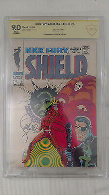 CBCS - 9.0 Nick Fury Agent of S.H.I.E.L.D #5 - Signed by Jim Steranko - Not CGC