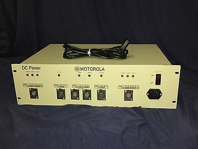 MOTOROLA RACK MOUNT DC POWER SUPPLY 5V 12V -12V AC110 w/ COOLING FAN VGC