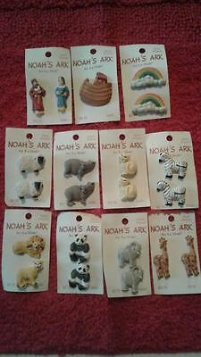 Sewing Buttons Collector Estate La Mode NOAH'S ARK Rainbow Hippo Giraffe Lion