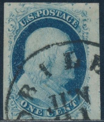 US 1851 SC #7 VF-XF Outstanding single with Superb CDS