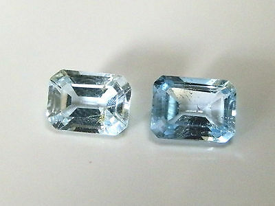 Natural earth-mined pale blue Australian Topaz gems....3.68 carat (Combined)